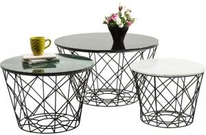 Комплект столиков East Coast 80X80X46 / 60X60X42 / 50X50 CM
