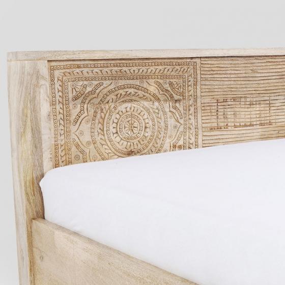 Кровать из манго Puro 169X218X76 CM 4