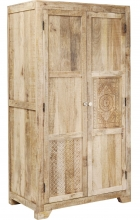 Платяной шкаф из манго резной Puro 100X58X190 CM