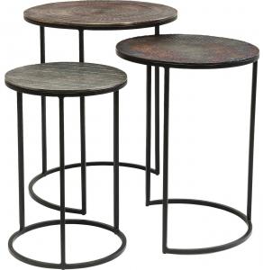 Комплект вспомогательных столиков Electra 48X48X59 / 41X41X54 / 33X33X48 CM