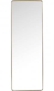 Зеркало в стальной раме Curve 200X70 CM цвет латунь