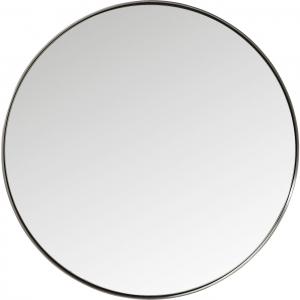 Круглое зеркало в стальной раме Curve Ø100 CM чёрная рама