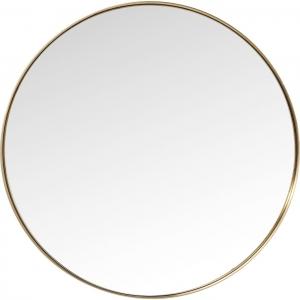 Круглое зеркало в стальной раме Curve Ø100 CM цвет латунь