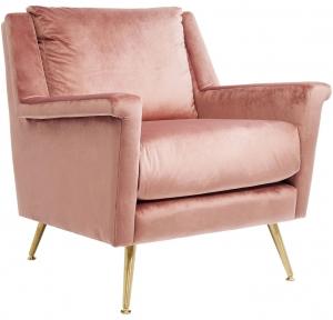 Кресло San Diego 81X86X84 CM розового цвета