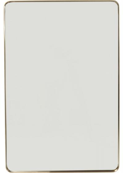Зеркало в стальной раме Curve 120X80 CM цвет латунь 1