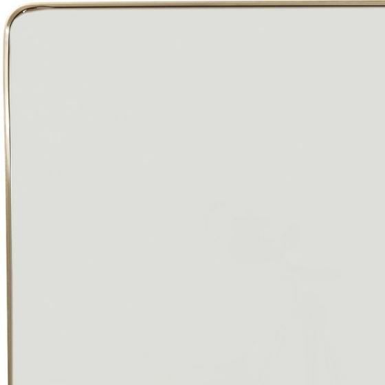 Зеркало в стальной раме Curve 120X80 CM цвет латунь 3
