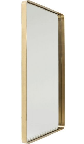 Зеркало в стальной раме Curve 120X80 CM цвет латунь 2