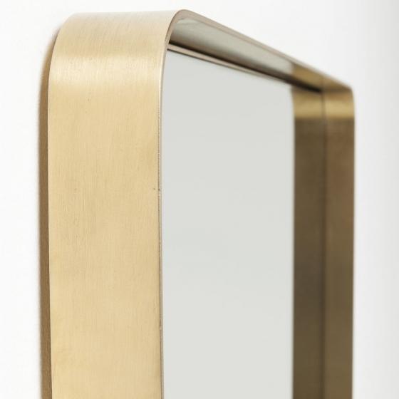 Зеркало в стальной раме Curve 120X80 CM цвет латунь 4