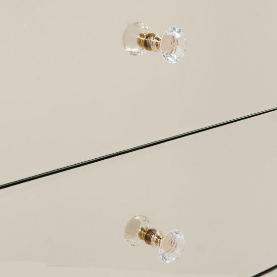 Шифоньер зеркальный Luxury 49X41X110 CM с золотым оттенком 3