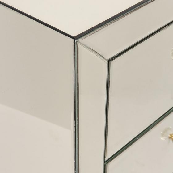 Шифоньер зеркальный Luxury 49X41X110 CM с золотым оттенком 4