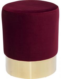 Пуф Cherry 35X35X42 CM бордового цвета