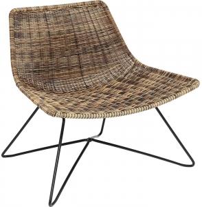 Кресло из стали и полиэтиленовой нити Sansibar Lounge 78X60X71 CM