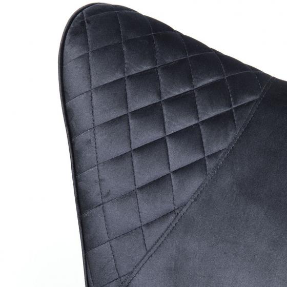 Кресло бархатное Tudor 78X80X100 CM чёрного цвета 7