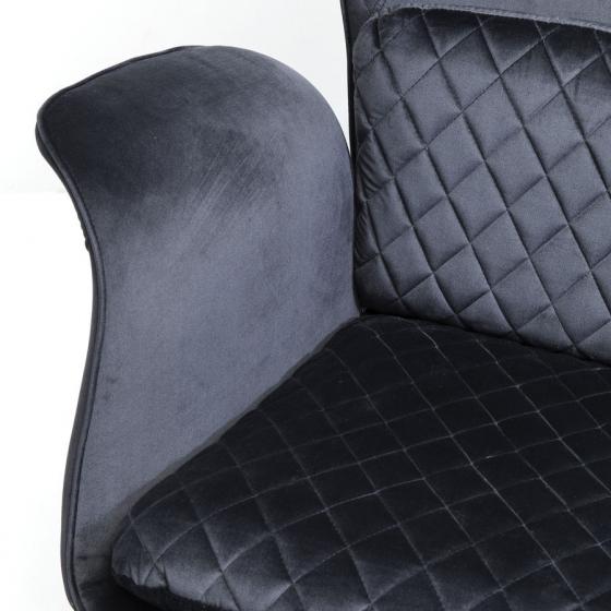 Кресло бархатное Tudor 78X80X100 CM чёрного цвета 6