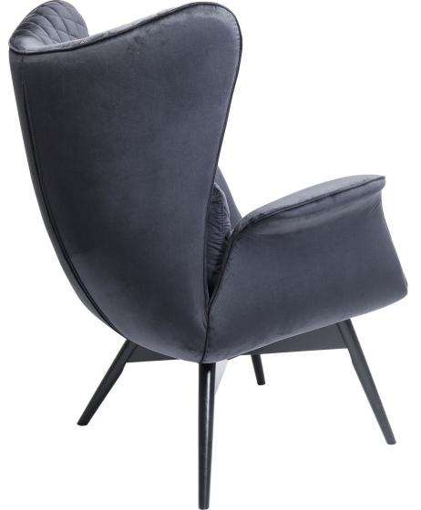 Кресло бархатное Tudor 78X80X100 CM чёрного цвета 3