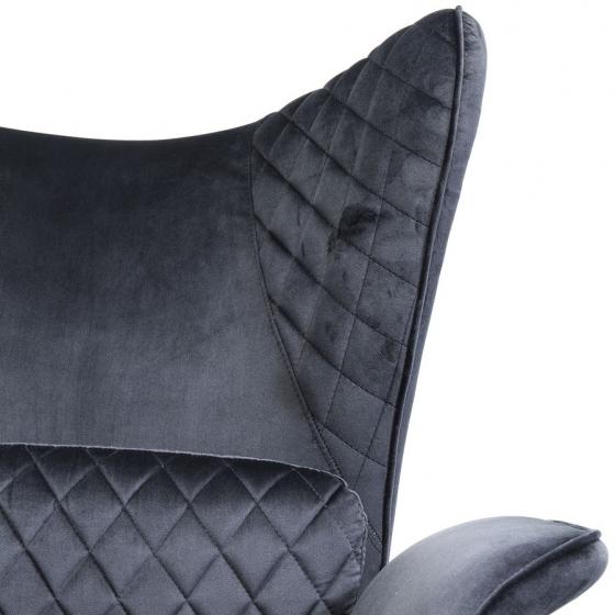 Кресло бархатное Tudor 78X80X100 CM чёрного цвета 9