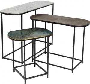 Комплект столиков Ray 97X30X61 / 72X60X54 / 46X30X47 CM