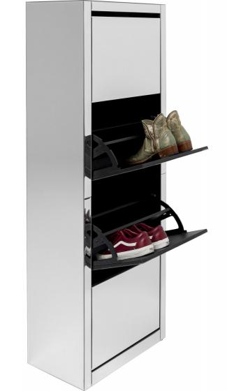 Шкаф для обуви Luxury 55X30X162 CM зеркальный 2