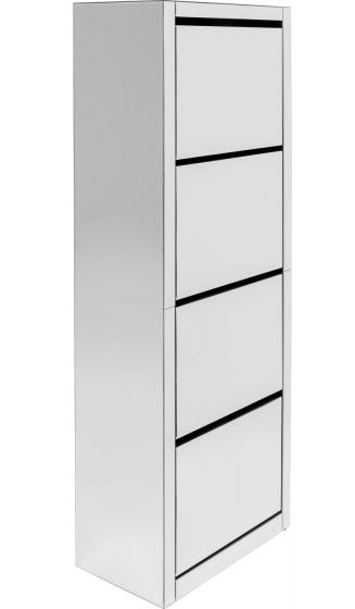 Шкаф для обуви Luxury 55X30X162 CM зеркальный 1