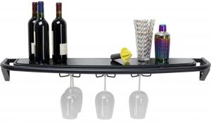 Полка барная навесная Treviso 120X40X25 CM чёрного цвета