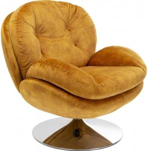 Кресло вращающееся Queens Cosy 84X83X81 CM горчичного цвета