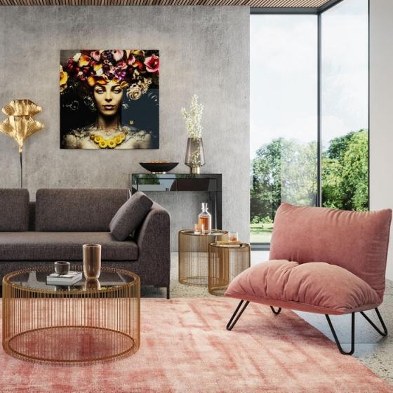 Кресло Porto Pino 88X72X102 розовое 2
