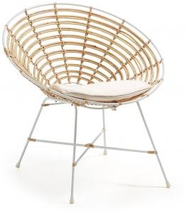 Кресло из ротанга KARTELL Sillon белое