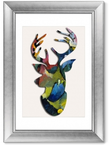 Постер Deer Blue Rider 51X71 CM