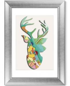 Постер Deer geometric beauty 51X71 CM
