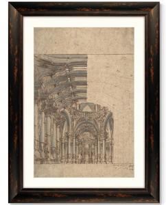 Постер Design of a Baroque Church 61X81 CM