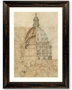 Постер Sketch of St. Paul's Cathedral 61X81 CM