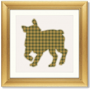 Постер Bulldog in a Scottish cage 61X61 CM