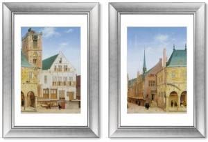 Диптих The Old Town Hall of Amsterdam 51X71 /51X71 CM