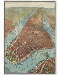 Постер Antique map of New York City 75X105 CM