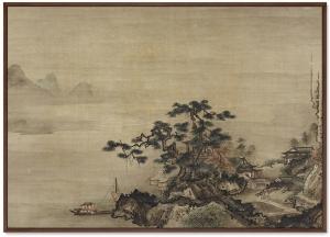 Постер Autumn Landscape in the Style of Sesshu 105X75 CM