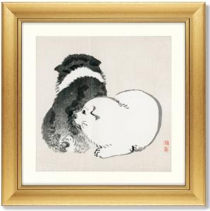 Постер Black and white puppies 61X61 CM