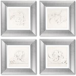 Набор постеров Architectural Motifs Four Rinceaux 36X36 / 36X36 / 36X36 / 36X36 CM