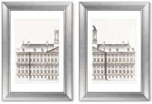 Диптих The City Hall in Amsterdam 51X71 / 51X71 CM