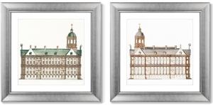 Диптих The City Hall in Amsterdam 61X61 / 61X61 CM