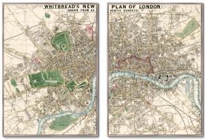 Диптих Plan of London drawn 75X105 / 75X105 CM
