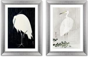 Диптих Egrets in the rain 61X81 / 61X81 CM
