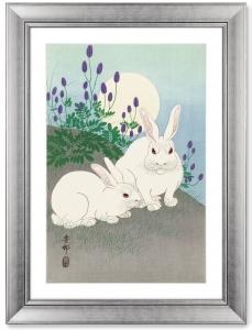 Постер Rabbits at full moon 61X81 CM