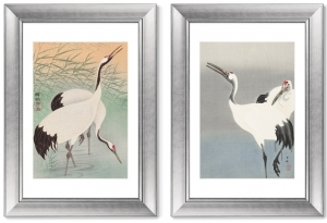 Диптих Two cranes 51X71 / 51X71 CM