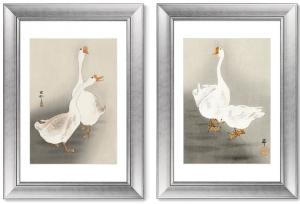 Диптих Two geese 51X71 CM