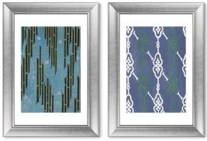 Диптих Vintage print of Japanese textile 51X71 / 51X71 CM