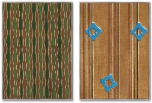 Диптих Vintage print of Japanese textile 75X105 / 75X105 CM