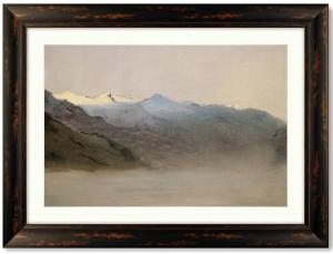 Постер Gastein Valley in the fog 81X61 CM