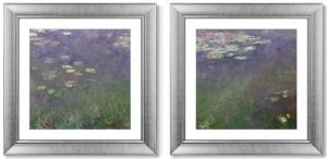 Диптих Water Lilies 61X61 / 61X61 CM