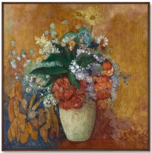 Постер Vase of Flowers 105X105 CM