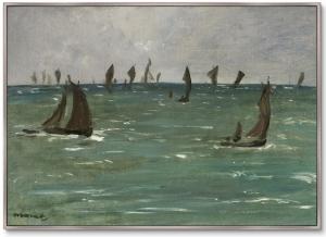 Постер Boats at Berck-sur-Mer 105X75 CM